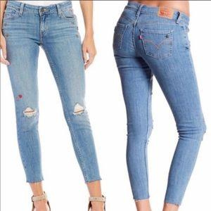 LEVIS 535 Super Skinny Studded & Embroidered Jeans